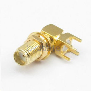 SMA female Mount PCB Solder Square RF Connector jack right angle 9.2mm 4.2mm in