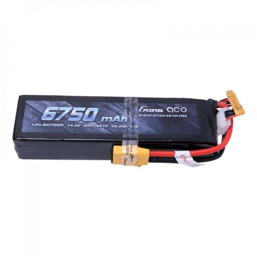 Gens ace 6750mAh 14.8V 50C 4S1P Lipo Battery Pack akumuliatorius automodeliui su XT90 skirtas X-Maxx