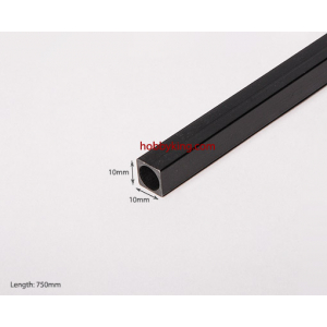 Carbon Fiber Square Tube 750x10.5mm