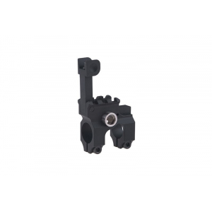 M4 / M16 gas block with folding bow tie - black