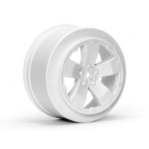 Sabertooth Losi-SCTE/22SCT Wheel | White | Pair