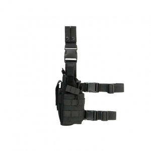2-WAYS CARRYING TYPE TACTICAL DROP LEG HOLSTER FOR LEFT-HANDED - BLACK [8FIELDS]