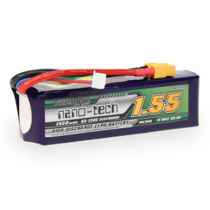 Turnigy nano-tech 1550mah 6S 65~130C Lipo akumuliatorius (450L Heli)