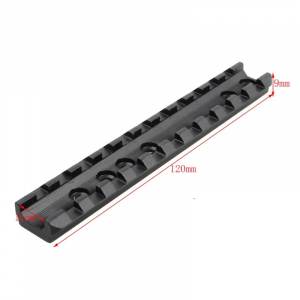 20MM Rail Tactical Picatinny 11 Slots Weaver Rail Scope Mount 120MM Rail Mount with Screws & Wrench for Airsoft Gun Equipments