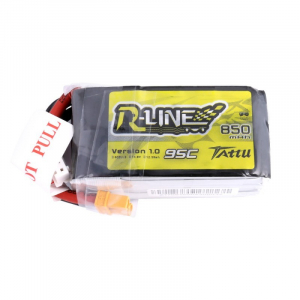 Tattu R-Line 850mAh 14.8V 4S1P 95C Lipo Battery Pack with XT30 Plug
