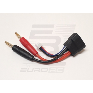 EuroRC Traxxas ID Male To 4mm Bullet + XH - 2S - Charging Cable 5cm 14AWG
