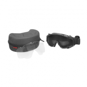 PROTECTIVE GOGGLE WITH BUILT-IN ANTI-FOG FAN - BLACK [FMA]