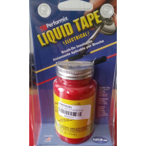 Performix LT14023 4 oz Electrical Liquid Tape Can, red