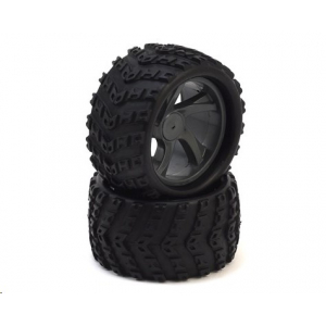 ION MT Pre-Mounted 1/18 Monster Truck Tires (2) by Maverick