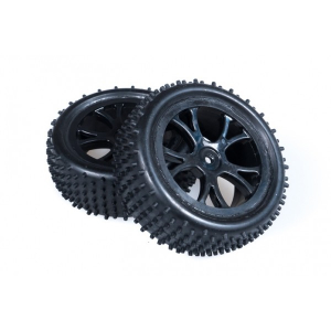 FTX Front Buggy Wheel and Tyre Set Black - Vantage