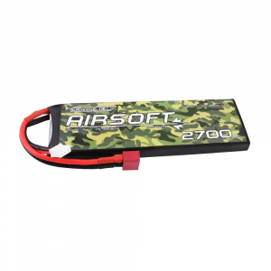 Gens ace 25/50C 2700mAh 2S1P 7.4V Airsoft Gun Lipo Battery with T Plug
