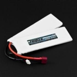 ASG 3000 mAh 7,4V 20C (splitted) (1+1) Airsoft Lipo akumuliatorius Redox