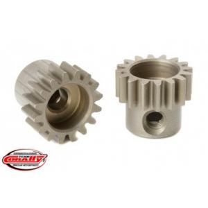 M0.6 Pinion - Short - Hardened Steel - 16 Teeth - Shaft Dia. 3.17mm