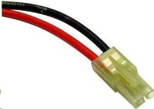 GPX Extreme : Mini male Tamiya connector with 18AWG 10cm cable