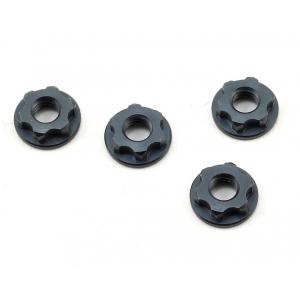 Tekno RC 7mm Serrated Wheel Nuts (Gun Metal) (4)