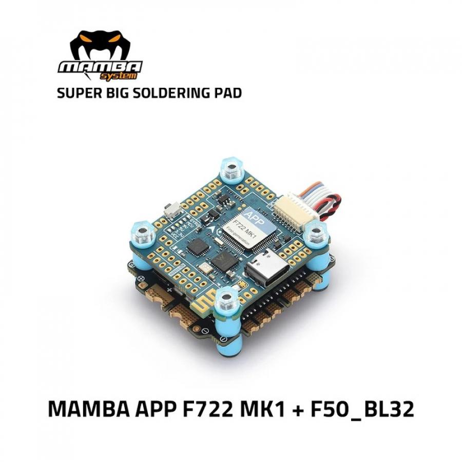 MAMBA F722 APP F50BL32 3-6S Flight Controller Stack