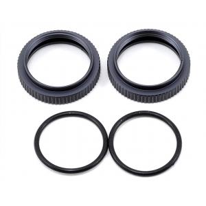 Tekno RC Aluminum Shock Adjustment Nut Set (Gun Metal) (2) TKR6013