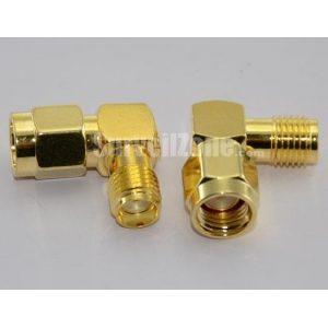 RP SMA Plug to SMA Jack L Type Adapter for Antenna