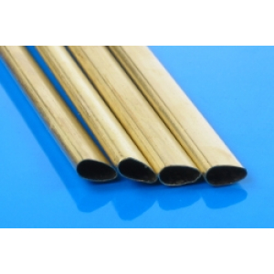 K&S Brass Slimline Tube 6.35x3.18x305mm #122