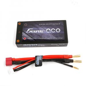 Gens Ace 3000mAh 7.4V 50/100C 2S1P 58# HardCase Lipo akumuliatorių automodeliui paketas su 4.0mm Bullet to T kištuku +XHR