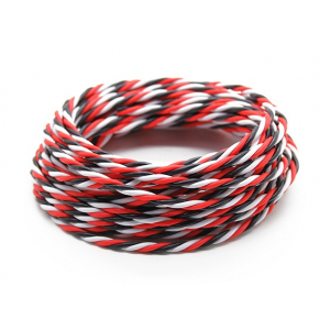 Twisted 22AWG Servo Wire Red/Black/White