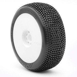 1:8 BUGGY IMPACT SOFT EVO WHEEL PRE-MOUNTED WHITE