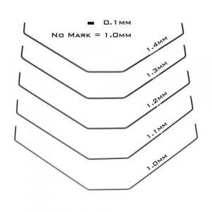 TKR6625 – Sway Bar Set (front, bars only, 1.0, 1.1, 1.2, 1.3, 1.4mm, EB410/ET410)