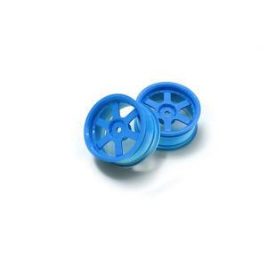 1:10 Rally Wheel 6-Spoke Fluorescent Blue (3mm Offset)