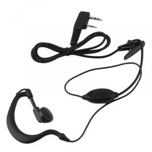 2 PIN Earpiece Headset PTT with Microphone Walkie Talkie Ear Hook Interphone Earphone for BAOFENG UV5R Plus BF-888S UM