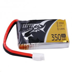 Tattu 350mAh 3.7V 30C 1S1P Lipo Battery Pack with Molex Plug