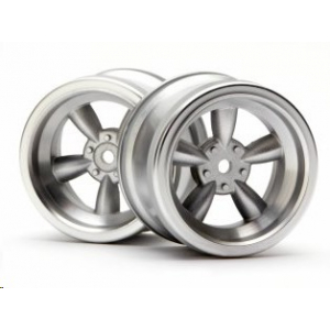 VINTAGE 5 SPOKE WHEEL 31mm MATTE CHROME 6mm OFFSET