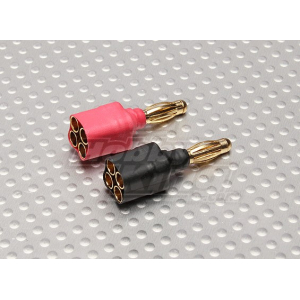 Single 4mm Male to 4 x 3.5mm Female Adapter (1 set)