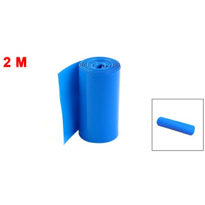 Uxcell Hot 1m/6.5ft Width 85mm Blue PVC Heat Shrinkable Wrap Tubing Tube Assortment Wiring Accessory for 18650 Battery Pack