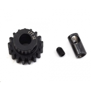 ProTek RC Steel 32P (17T) Pinion Gear w/3.17mm Reducer Sleeve (Mod .8) (5mm Bore)