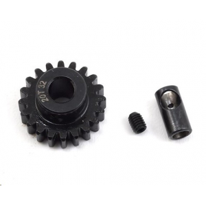 ProTek RC Steel 32P (20T)Pinion Gear w/3.17mm Reducer Sleeve (Mod .8) (5mm Bore)