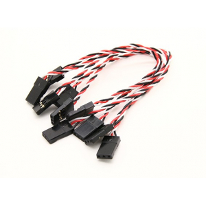Twisted Male to Male 26 AWG Silicone Servo Lead (JR) 130mm(black/red/white)