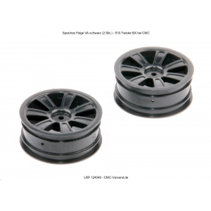 Spoke Wheel front black (2 pcs) - S10 Twister BX