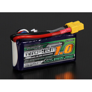 Turnigy nano-tech 1000mAh 3S 45~90C Lipo Pack