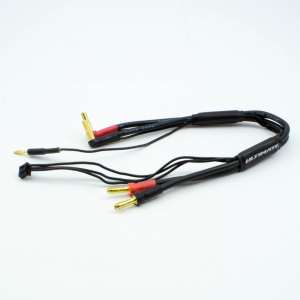 ULTIMATE RACING 2S CHARGE CABLE LEAD W/4mm & 5mm BULLET CONNECTOR (30cm)