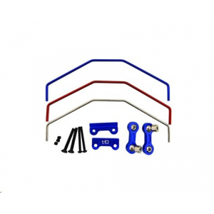 Hot Racing Traxxas X-Maxx Aluminum Front/Rear Sway Bar Set (Blue)