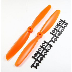 9 x 45 Propeller Set (one clockwise rotating, one counter-clockwise rotating) - Orange