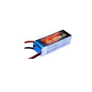 Gens ace 1250mAh 22.2V 45C 6S1P Lipo Battery Pack