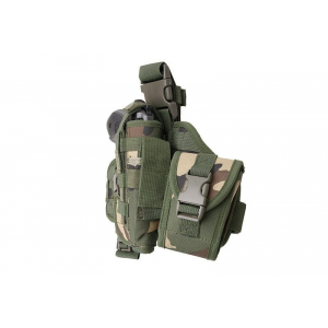 Modular thigh panel with holster - woodland