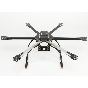 HobbyKing 650X6 Folding HexaCopter Frame with Tall Crab Landing Gear (KIT)
