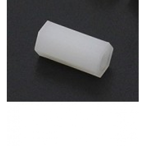 5.6mm x 12mm M3 Nylon Tapped Spacer (1vnt