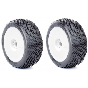 AKA 14013VRW - Gridiron II - SUPER-SOFT - 1:8 Buggy Pre-Mounted Tires (2 pcs)
