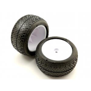 "Suklijuotos JConcepts Bro Codes 2.2"" Rear Buggy Tires (2) (Green)"