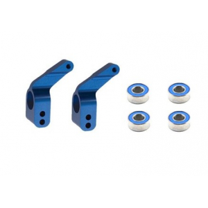 Traxxas Aluminum Stub Axle Carrier (Blue) (2)