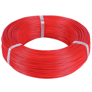 MSP Silicone power cable 28AWG 0.08mm2 1m RED