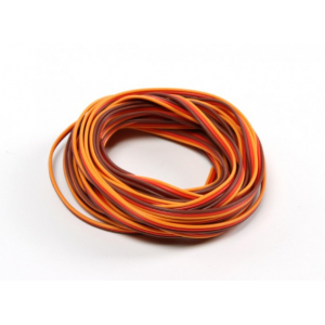26AWG Servo Wire 500cm (Red/Brown/Orange)